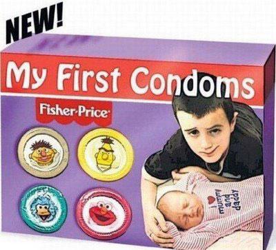 Condones para niños (My First Condoms de Fisher Price)